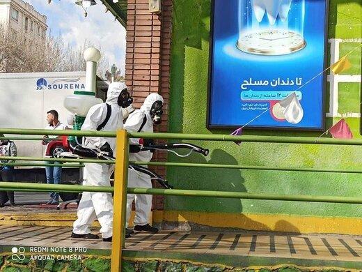 آتشنشانی شهرداری تهران هم به خط مقدم مبارزه با کرونا پیوست