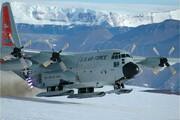 ببینید | تیک آف هواپیمای c130 بر روی باند پوشیده از برف و یخ به شیوه غیرمعمول