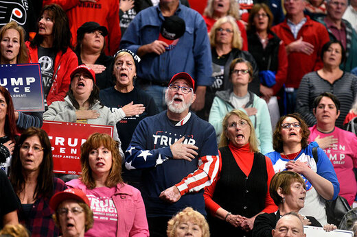 ببینید | طرفداران ترامپ: ویروس کرونا وجود ندارد!