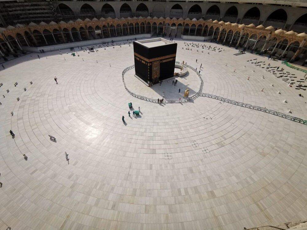 مسجد الحرام بعد از توقف حج عمره به دلیل کرونا