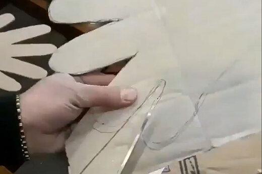 ببینید | اینگونه با نایلون فریزر دستکش پلاستیکی بسازید