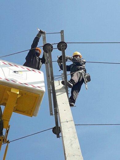 بهره برداری از پروژه احداث شبکه فشار متوسط هوایی بلوار شهید بهشتی شهرستان گرمسار