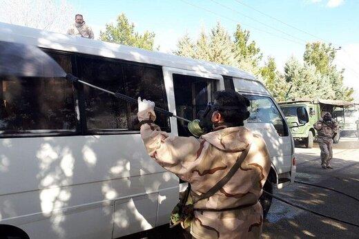 همکاری ارتش در عملیات گندزدایی منطقه شمالغرب