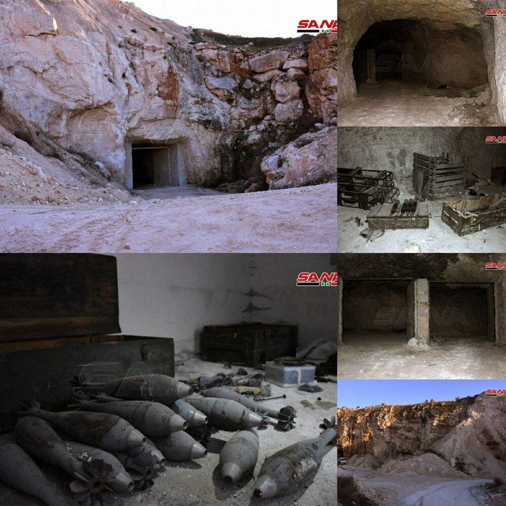 کشف تونلهای مملوء از سلاح و مهمات در حومه غربی حلب+ تصاویر
