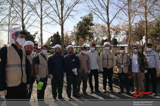 طلاب و روحانیون در کنار مدافعان سلامت استان البرز