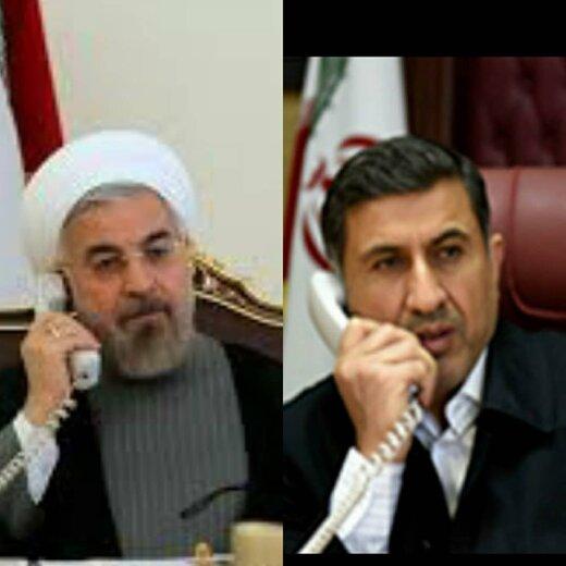 گفتگوی تلفنی رییس جمهور با استاندار البرز در خصوص اقدامات ستاد استانی کرونا
