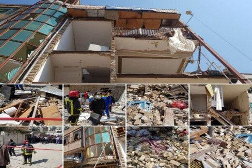 ببینید   ویران شدن یک ساختمان ۴ طبقه در بومهن بر اثر انفجار گاز شهری