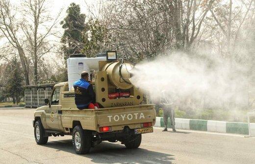 رونمایی از خودروهای جدید ضدعفونی کننده و رفع آلودگی نزاجا با حضور فرمانده نیروی زمینی ارتش