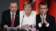 نشست اردوغان، مرکل و مکرون هم ویدئو کنفرانسی شد