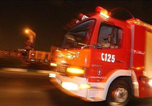 مرد جوان در شعله آتش جان باخت؛ تصاویر