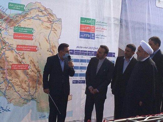 با حضور رئیسجمهور؛ قطعات ۲ و ۳ آزاد راه شهید همت – کرج افتتاح شد