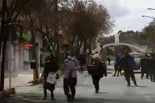 ببینید | وضعیت یکی از شلوغترین خیابانهای سنندج!