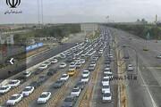 عکس |  تصویر دلهره آور از مردمی که کرونا را جدی نگرفتند:ترافیک سنگین عوارضی اتوبان تهران - قم !