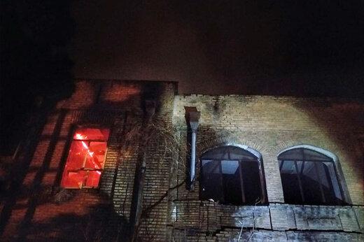 ببینید | چطور شعلههای آتش دومین بیمارستان تاریخی ایران را نابود کرد