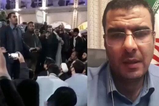 ببینید | واکنش مداح مشهدی به انتشار فیلم سخنرانیاش برای معترضان بسته شدن به حرم