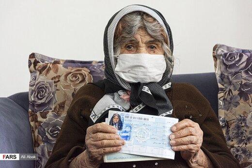 تصاویر پیرترین کرونایی کشور   «خاور» در ۱۰۴ سالگی کرونا را شکست داد