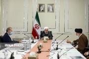 تصاویر | جلسه سران قوا درباره کرونا؛ روحانی همچنان بدون ماسک ، لاریجانی با ماسک و رئیسی با ماسک کنار زده از صورت