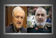 پیام فرمانده سپاه به وزیر بهداشت: پیشتاز جهانی نبرد با ویروس کرونا هستید