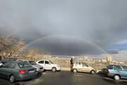 ببینید | رنگین کمان زیبا در آسمان تهران