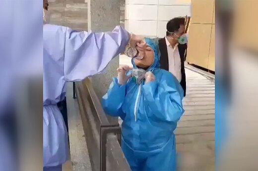 ببینید | گزارش زنده و بدون سانسور رضا رشیدپور از زنان قهرمان اتاق قرنطینه بیمارستان امیراعلم!