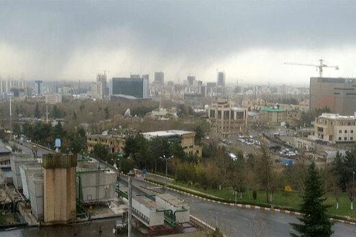 ببینید | تصاویر دیدنی از رگبار بهاری در جنوب تهران