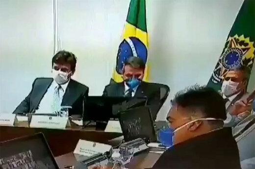 ببینید | سرفههای رییس جمهور برزیل پس از مثبتشدن تست کرونای معاونانش