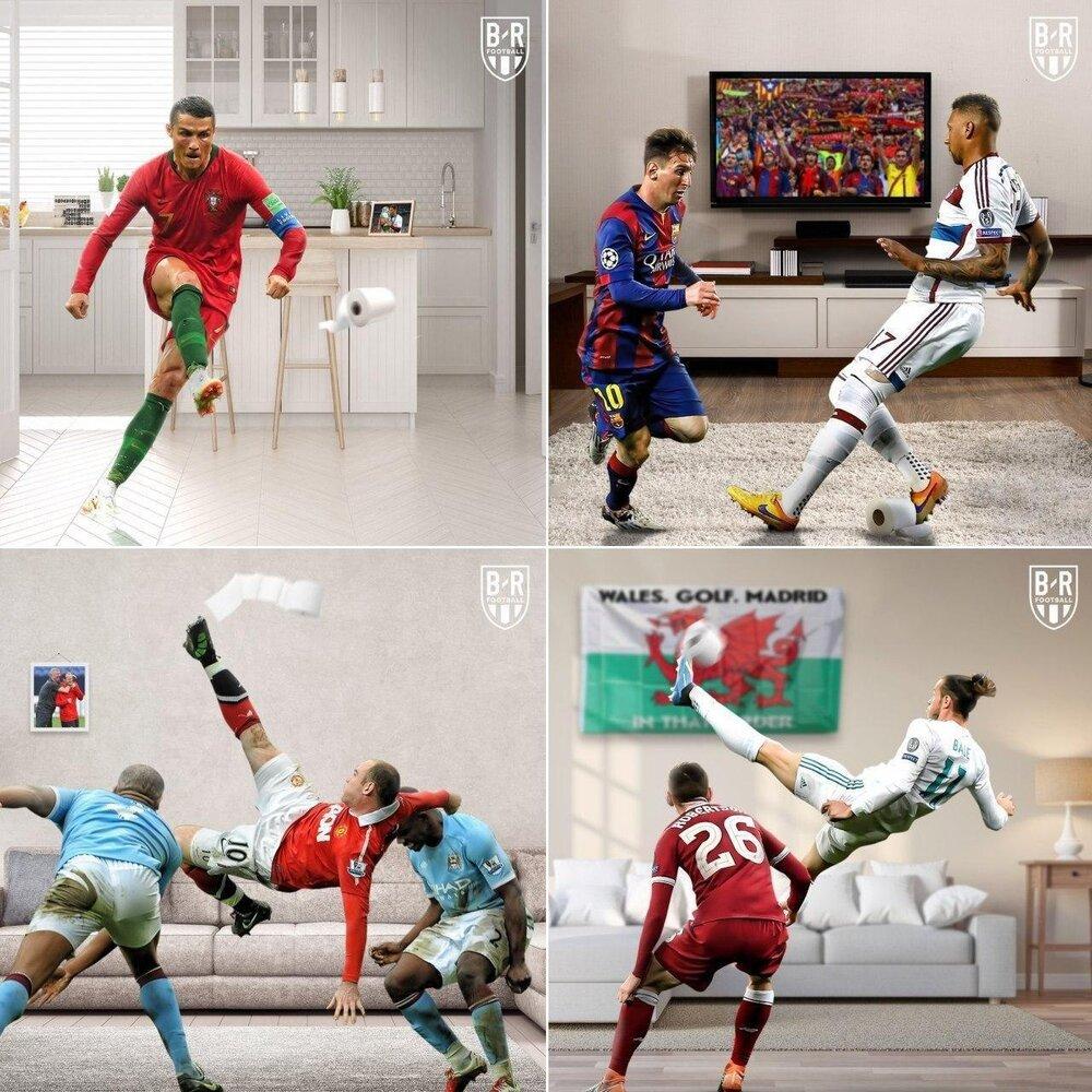 هیجان فوتبال در خانه/عکس - خبرآنلاین