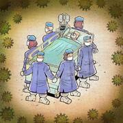 ببینید: زاویهای جدید از تلاش پزشکان و پرستاران!