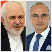 ظریف با وزیر خارجه کرواسی ابراز همدردی کرد