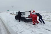 ببینید | کولاک و برف شدید در جاده فیروزکوه