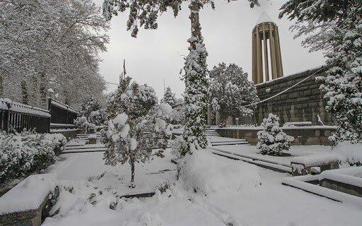 برف بهاری همدان را سفید پوش کرد