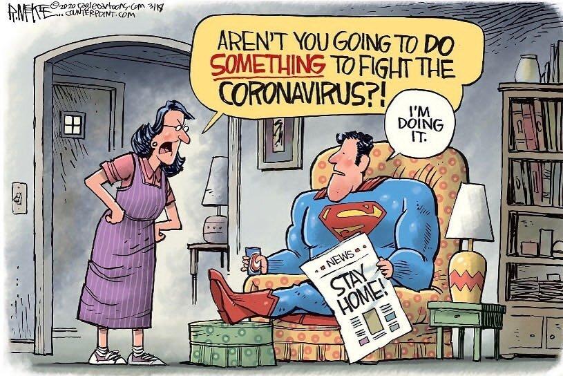 سوپرمن هم این روزا تو قرنطینهست!