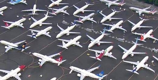 فرودگاه ها جا برای پارک هواپیما ندارند؛ کرونا همه را زمینگیر کرد