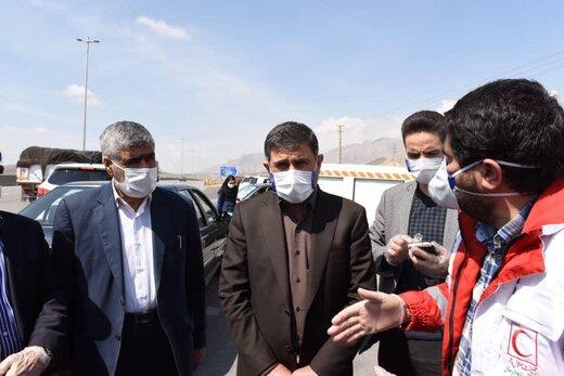 تیم های هلال احمر با حمایت مسئولان و نیروی انتظامی به سنجش سلامت مردم می پردازند