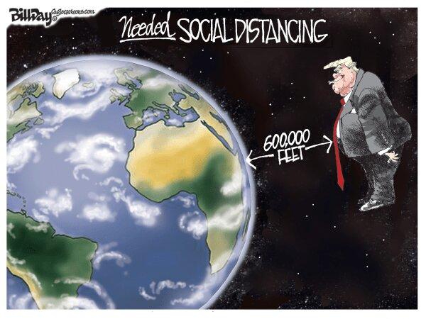 آقای ترامپ فاصله اجتماعی رو حفظ کن!