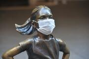 کرونا، چهره مجسمههای مشهور جهان را هم تغییر داده است/عکس