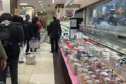 ببنید | مردم وحشت زده ژاپن در صف مراکز خرید
