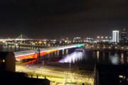 عکس | پایتخت صربستان با پرچم ایران نورپردازی شد