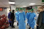 ببینید | حضور اسحاق جهانگیری در بیمارستان امام حسین(ع) با لباس ویژه