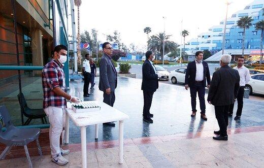 توزیع رایگان ۲۰ هزار بسته محلول ضدعفونی کننده دست و سطوح در کیش