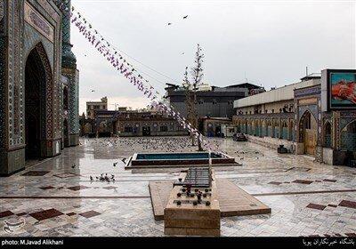 حیاط امامزاده صالح