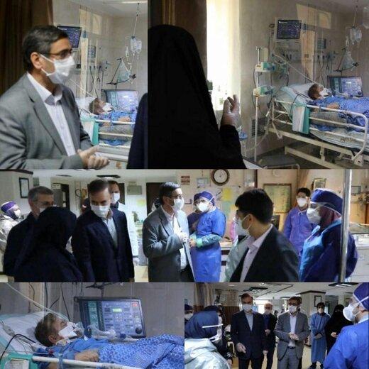 عیادت استاندار همدان از سردار سلگی در بیمارستان