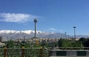 هوای تهران در ۱۲ فروردین ماه پاک است
