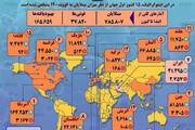 ببینید | آمار رسمی مبتلایان به کرونا در جهان تا ۱۲ فروردین