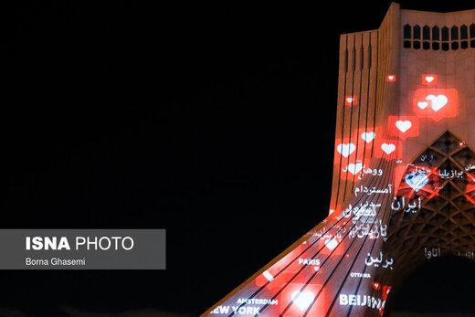 اجرای برنامه ویدئو مپینگ در برج آزادی