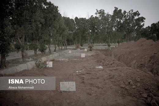 باغ فردوس، محل دفن قربانیان کرونایی در اهواز