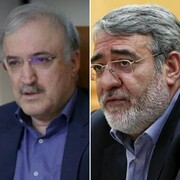 قدردانی وزرای کشور و بهداشت از استاندار البرز