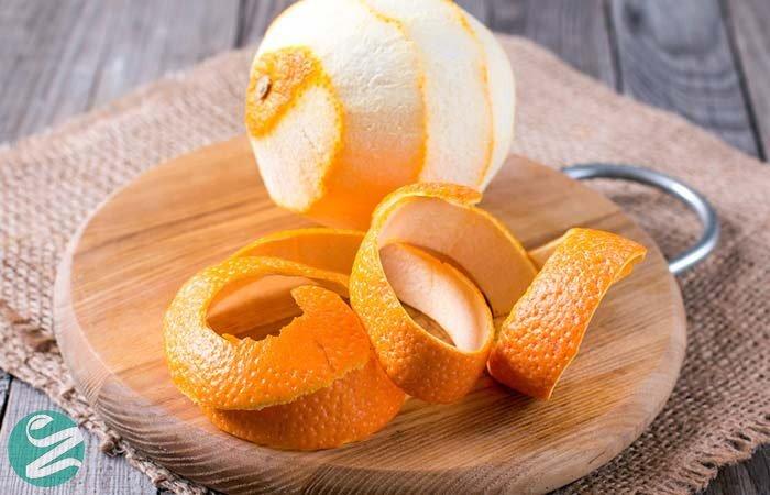 پوست پرتغال برای سفید کردن دندان