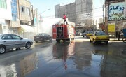 اجرای مرحله سوم پیشگیری از شیوع کرونا در محلات پرخطر تبریز