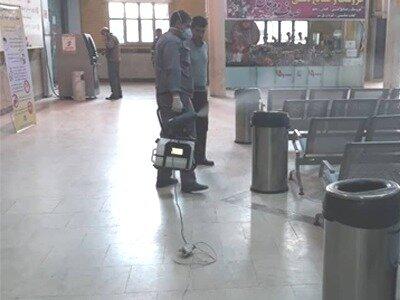 ضدعفونی پایانههای مسافربری قزوین به صورت مستمر